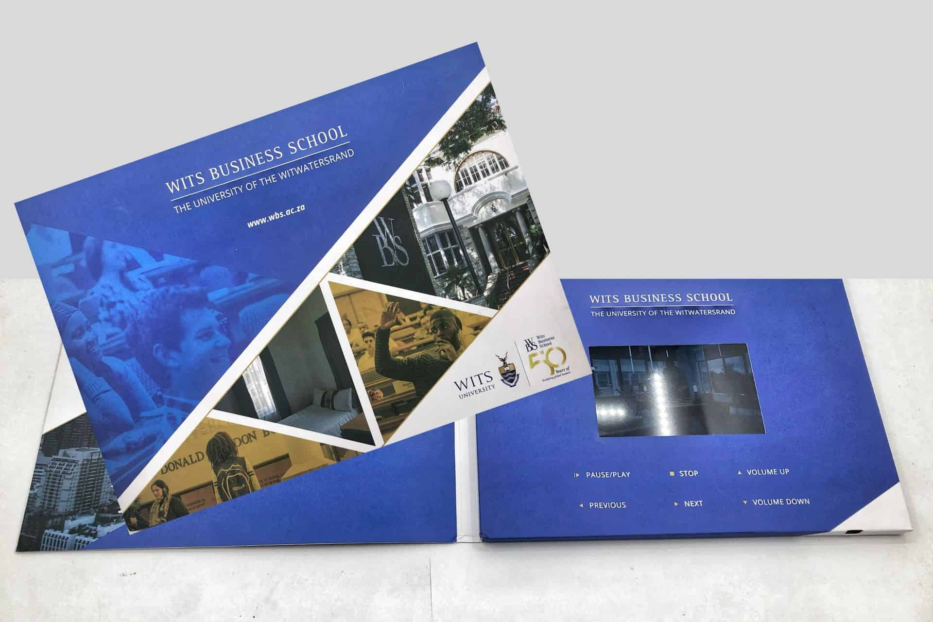 4-inch video brochure A5