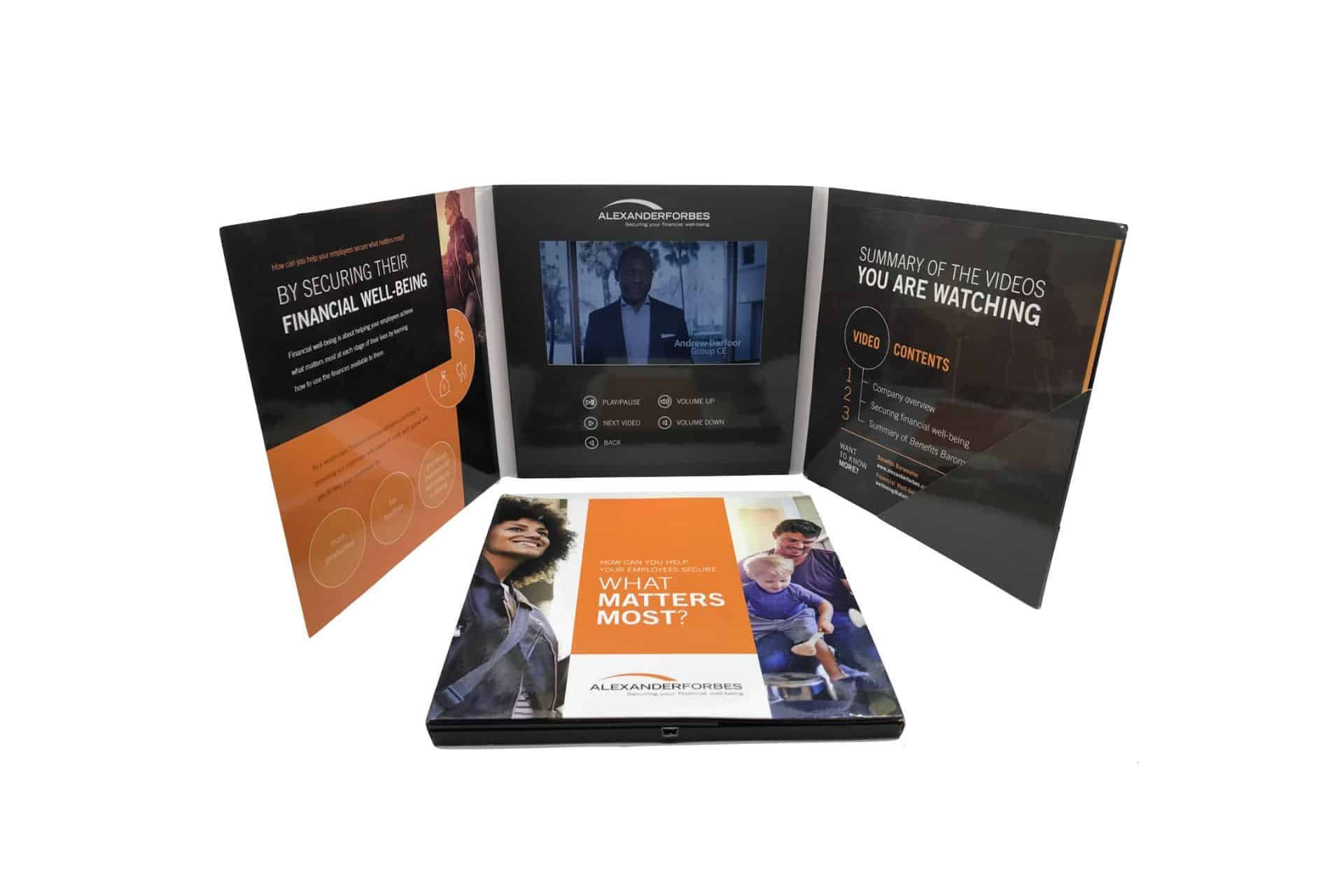 7-inch bespoke video brochure folder